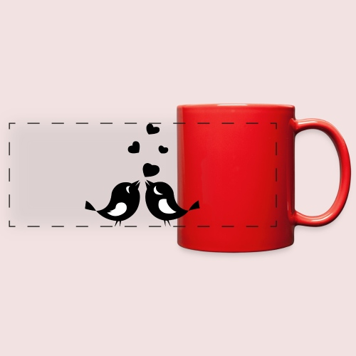 Love Birds - Full Color Panoramic Mug
