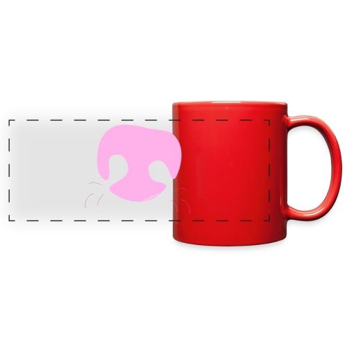 Pink Whimsical Dog Nose - Full Color Panoramic Mug