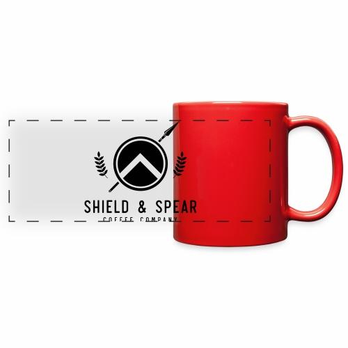 Shield and Spear Black Logo - Full Color Panoramic Mug