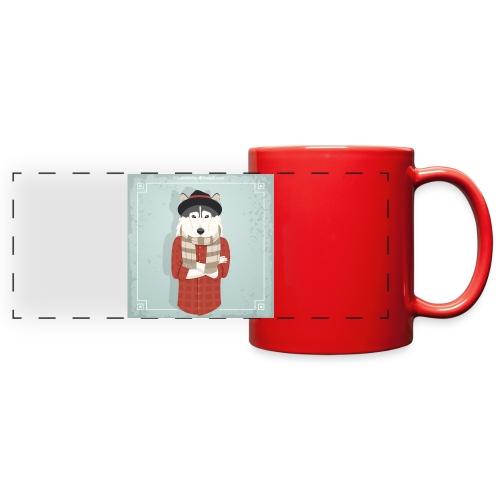 Hispter Dog - Full Color Panoramic Mug