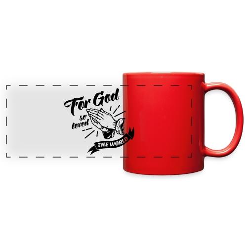 For God So Loved The World… - Alt. Design (Black) - Full Color Panoramic Mug