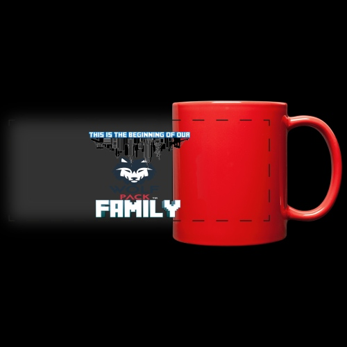 We Are Linked As One Big WolfPack Family - Full Color Panoramic Mug