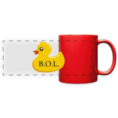 Official B.O.L. Ducky Duck Logo - Full Color Panoramic Mug