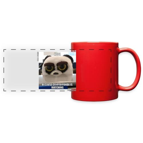 Crypto Panda Is Watching (Crypto Series) - Full Color Panoramic Mug