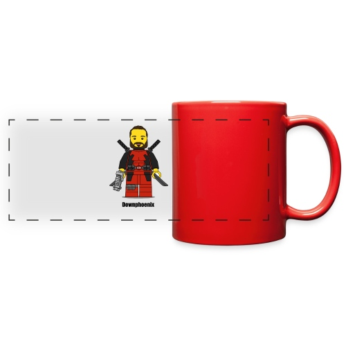 Downphoenix Character Logo - Full Color Panoramic Mug