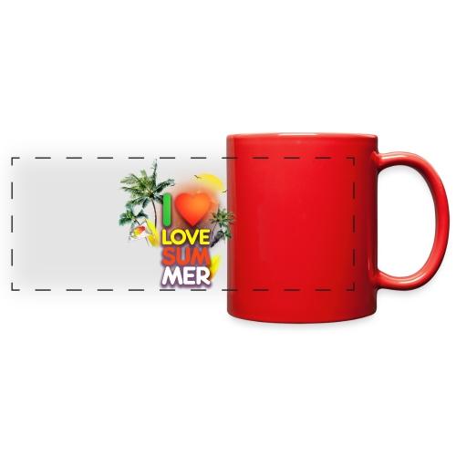 I love summer - Full Color Panoramic Mug