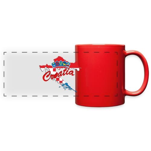 Croatia Football Team Colours T-Shirt Treasure Des - Full Color Panoramic Mug
