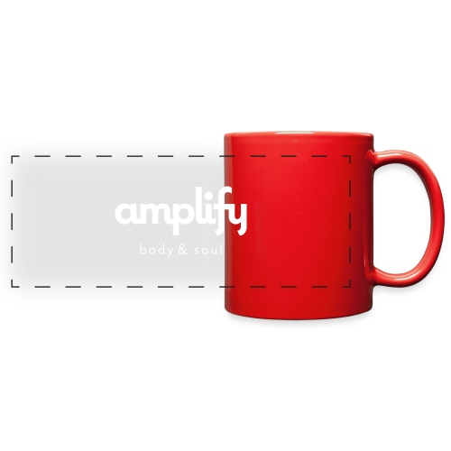 amplify logo // white - Full Color Panoramic Mug