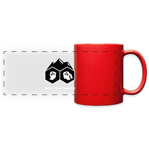 Pikes Peak Gamers Logo (Solid Black) - Full Color Panoramic Mug