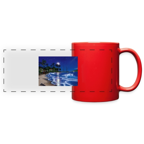 full moon - Full Color Panoramic Mug