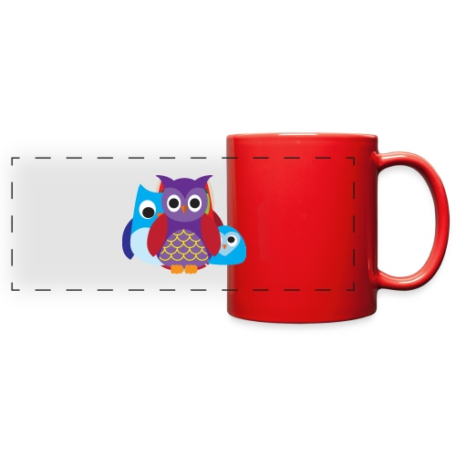 Cute Owls Eyes - Full Color Panoramic Mug