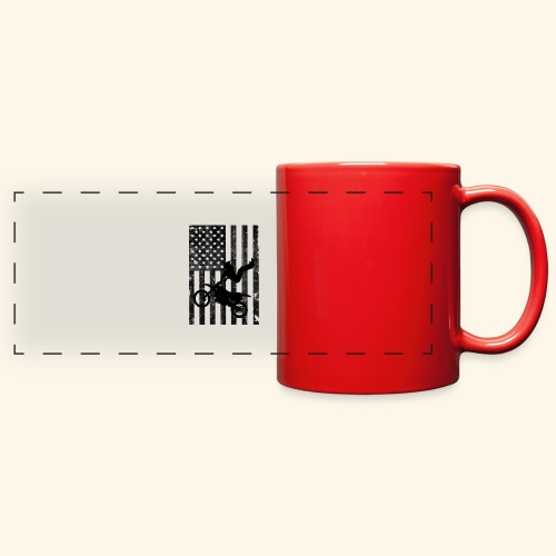 American Flag (Black and white) - Full Color Panoramic Mug