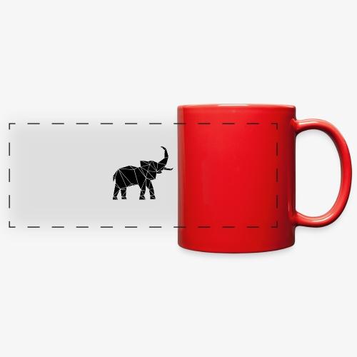 Lowpoly lephant - Full Color Panoramic Mug