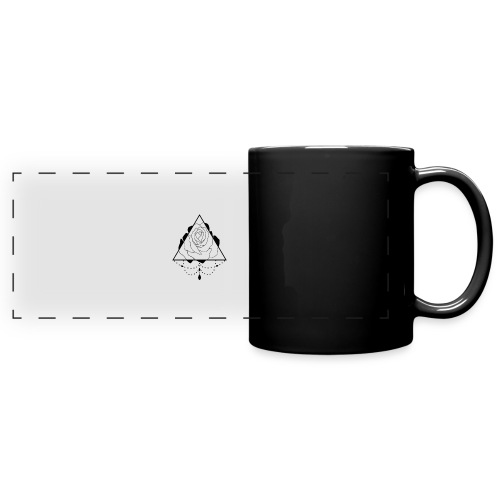 black rose - Full Color Panoramic Mug