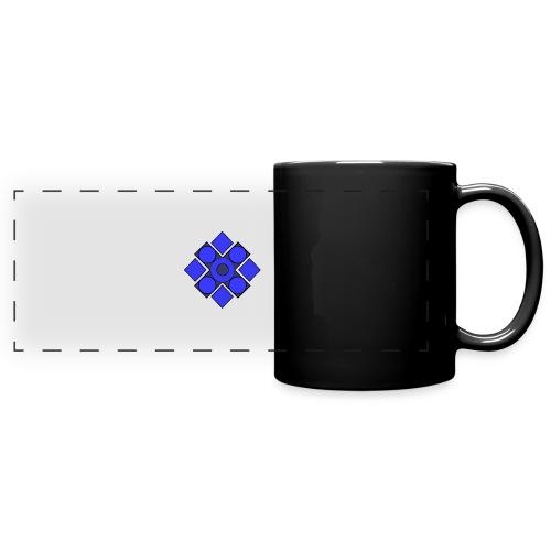 Geometric Cerulean - Full Color Panoramic Mug