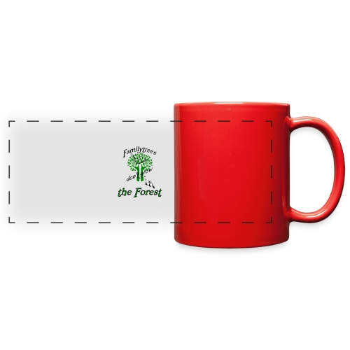 genealogy family tree forest funny birthday gift - Full Color Panoramic Mug