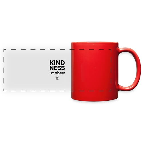 KINDNESS IS LEGENDARY BLACK - Full Color Panoramic Mug