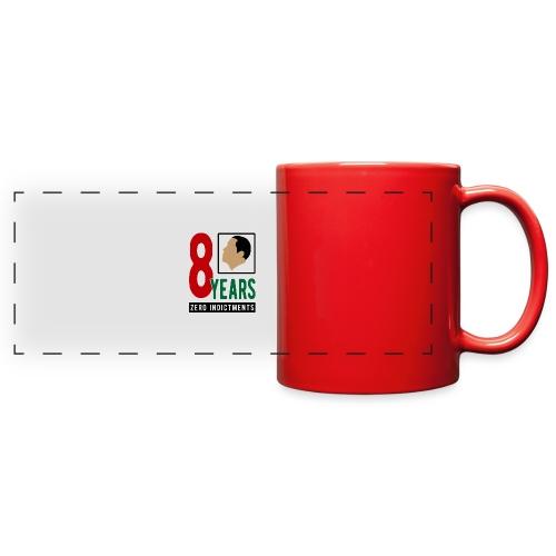 Obama Zero Indictments - Full Color Panoramic Mug