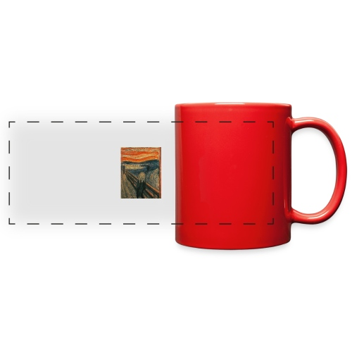 The Scream (Textured) by Edvard Munch - Full Color Panoramic Mug