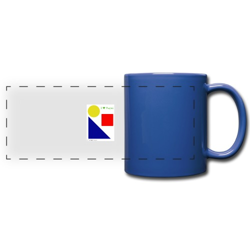 Hi I'm Ronald Seegers Collection-I Love Shapes - Full Color Panoramic Mug