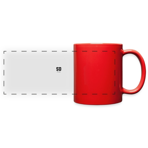 SD Designs blue, white, red/black merch - Full Color Panoramic Mug