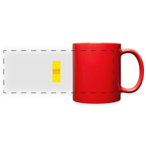 LOVE A WORD YOU GIVE POWER TO - Full Color Panoramic Mug
