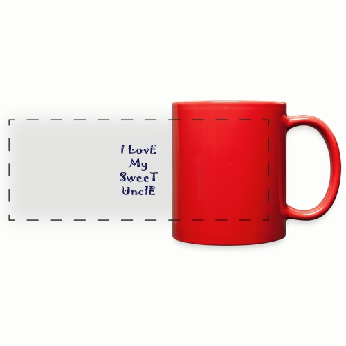 I love my sweet uncle - Full Color Panoramic Mug