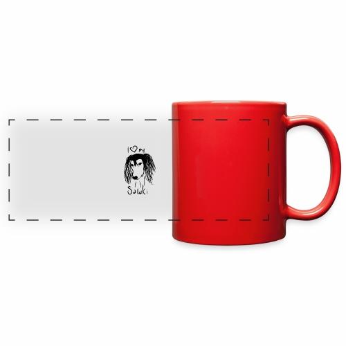 I love my saluki - Full Color Panoramic Mug