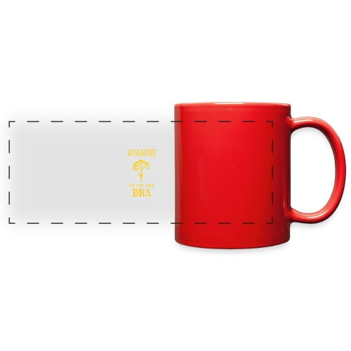 genealogy is in my dna funny birthday gift yellow - Full Color Panoramic Mug