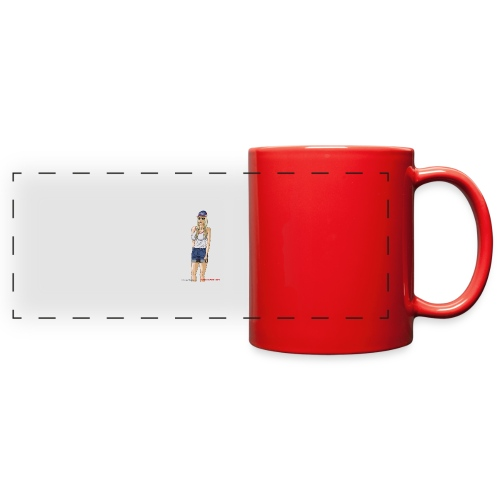 Gina Character Design - Full Color Panoramic Mug