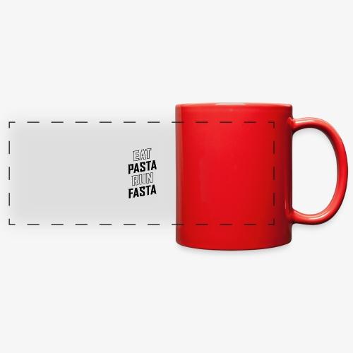 Eat Pasta Run Fasta v2 - Full Color Panoramic Mug
