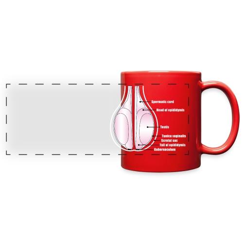 Red Scrotal Cup - Full Color Panoramic Mug