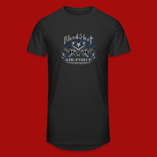 BloodShot Air Force with black - Unisex Oversize T-Shirt