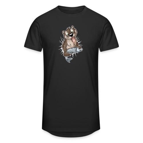 STUCK Otter (front) - white cracks - Unisex Oversize T-Shirt