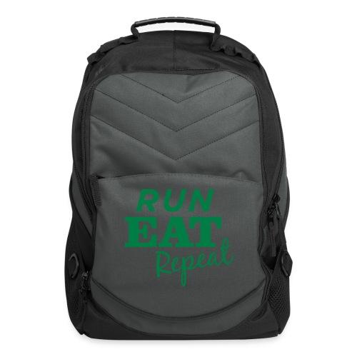 Run Eat Repeat buttons medium - Computer Backpack