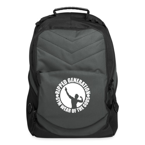 Ripped Generation Gym Wear of the Gods Badge Logo - Computer Backpack