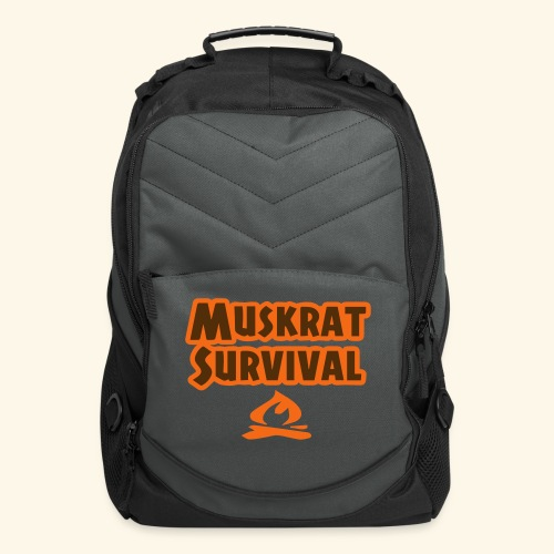 Muskrat Survival text - Computer Backpack