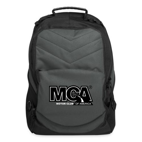 MCA Logo WBG Transparent BLACK TITLEfw fw png - Computer Backpack
