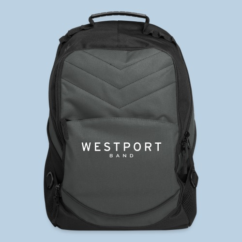 Westport Text White on transparent - Computer Backpack