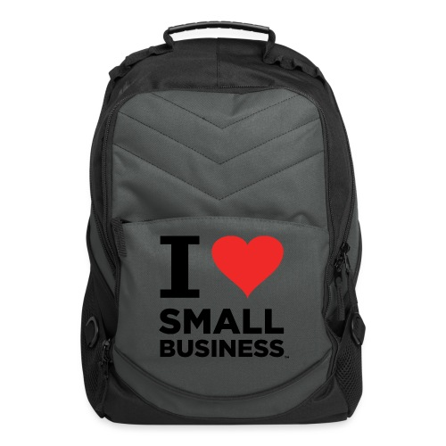 I Heart Small Business (Black & Red) - Computer Backpack