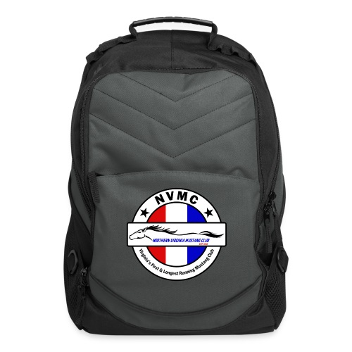 Circle logo on white with black border - Computer Backpack
