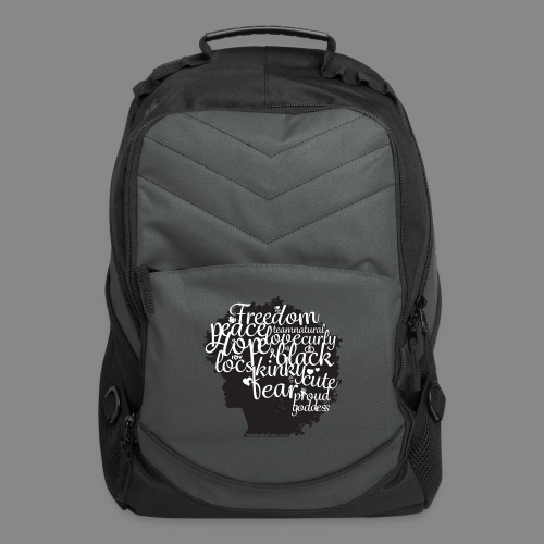 Afro Text II - Computer Backpack