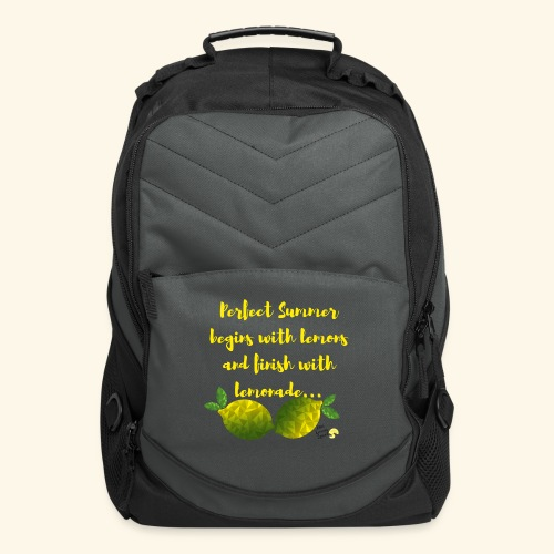 Perfect Summer begins with lemons and finish with - Computer Backpack
