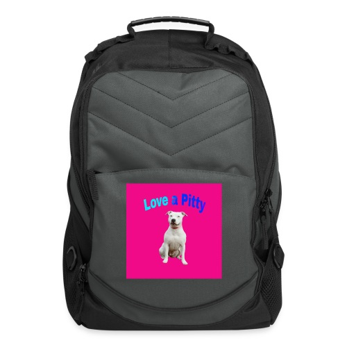 Pink Pit Bull - Computer Backpack