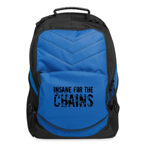 Insane For the Chains Disc Golf Black Print - Computer Backpack
