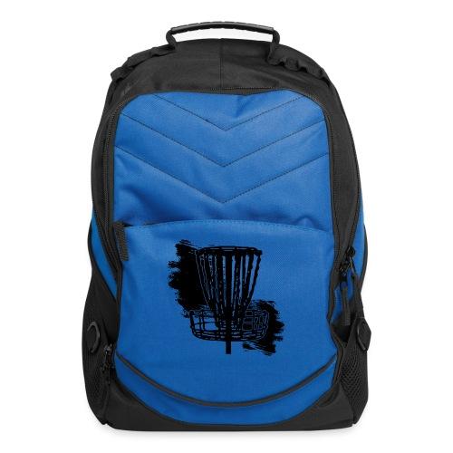 Disc Golf Basket Paint Black Print - Computer Backpack