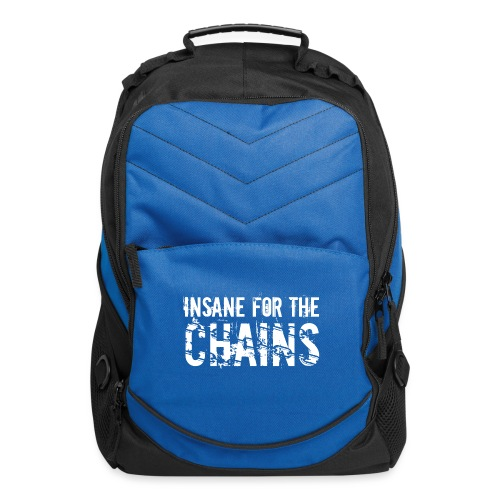 Insane for the Chains White Print - Computer Backpack