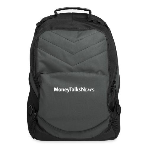 Money Talks News Logo - White - Computer Backpack