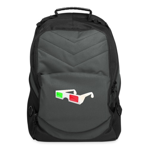 3D red green glasses - Computer Backpack