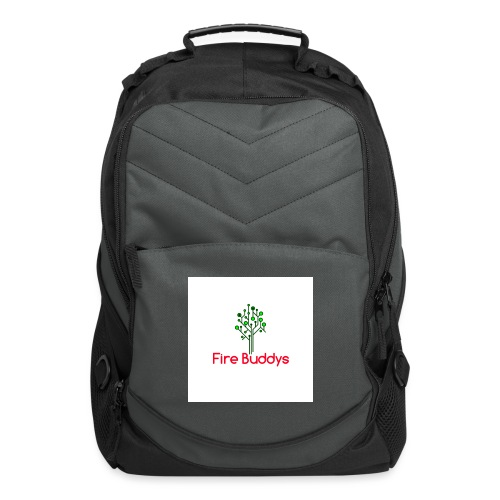 Fire Buddys Website Logo White Tee-shirt eco - Computer Backpack